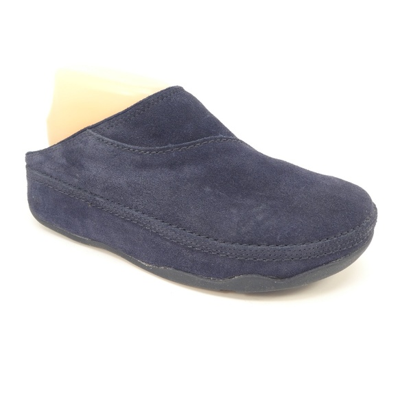 9a3f1b0bb8f4 Fitflop Shoes - Fit Flop Gogh Blue Suede Slip On Walking Clogs